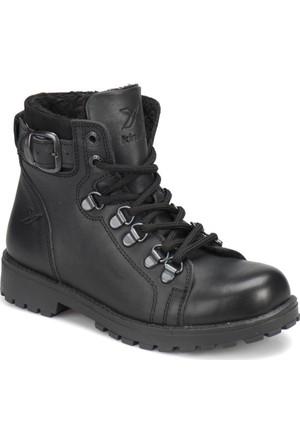 Kinetix Sardone Leather Siyah Erkek Çocuk Deri Bot
