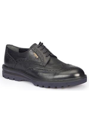 Mercedes Hansen Siyah Erkek Deri Ayakkabı