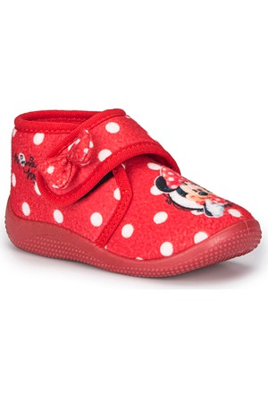 Mickey Mouse Larun-1 Kırmızı Kız Çocuk Panduf