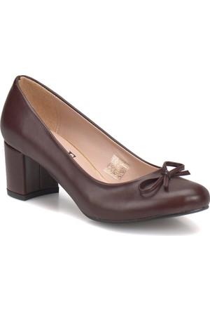 Miss F Dw17034 Bordo Kadın Basic Ayakkabı