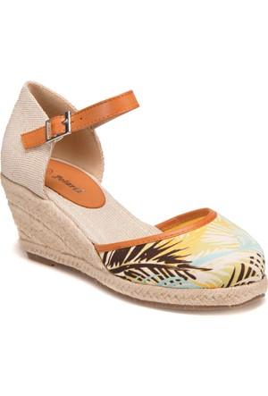 Polaris 61.308469.Z Sarı Kadın Sandalet