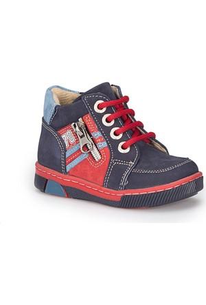Polaris 72.508424.B Lacivert Erkek Çocuk Deri Ayakkabı