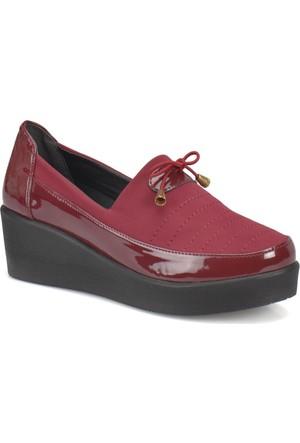 Travel Soft Sts001 Bordo Kadın Ayakkabı