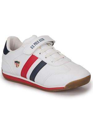 U.S. Polo Assn. Boni Wt Beyaz Erkek Çocuk Ayakkabı