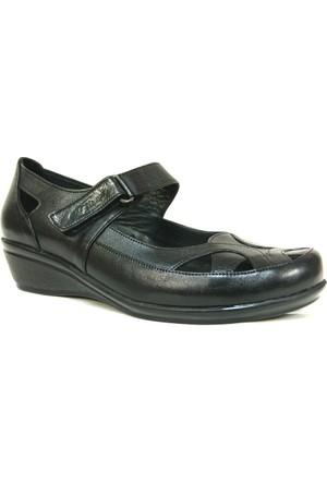 Fierro 0986 Siyah 4 Nokta Ortopedik Bayan Ayakkabı
