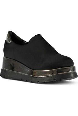 Marjin Potve Dolgu Ayakkabı Siyah