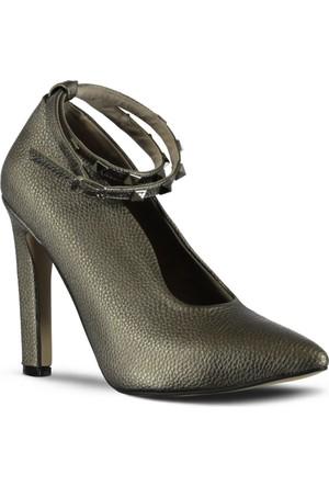 Marjin Avus Topuklu Ayakkabı Platin