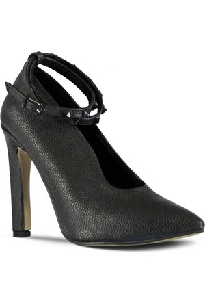 Marjin Avus Topuklu Ayakkabı Siyah