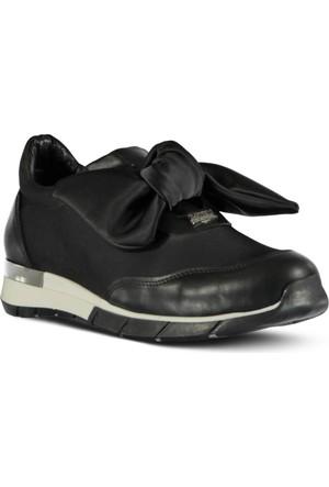 Marjin Esvan Düz Spor Ayakkabı Siyah