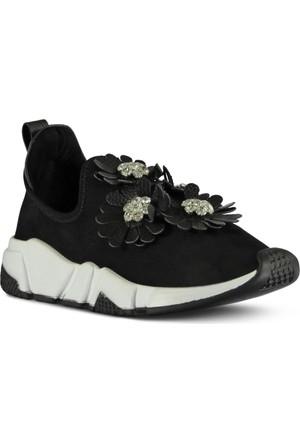Marjin Tune Düz Spor Ayakkabı Siyah