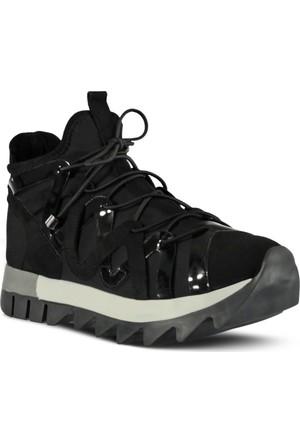 Marjin Mente Düz Spor Ayakkabı Siyah