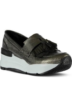 Marjin Arid Dolgu Topuk Ayakkabı Platin