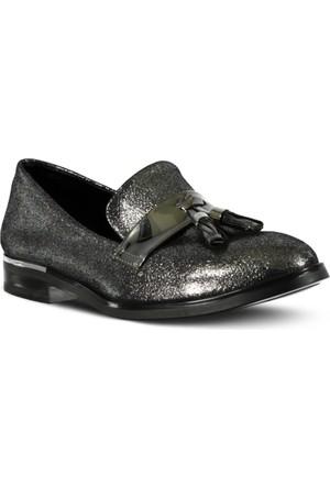 Marjin Nalde Düz Ayakkabı Gümüş