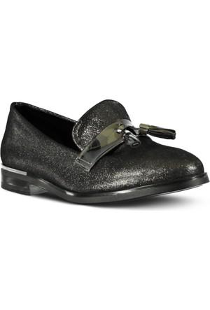 Marjin Nalde Düz Ayakkabı Platin