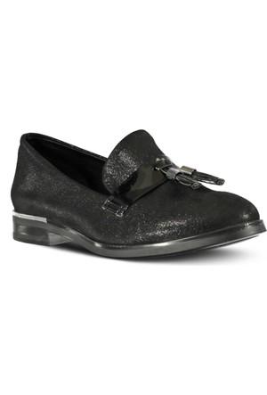 Marjin Nalde Düz Ayakkabı Siyah