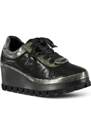 Marjin Dolgu Topuk Ayakkabı Platin