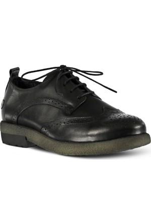 Marjin Düz Deri Ayakkabı Siyah