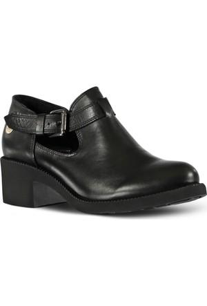 Marjin Topuklu Deri Ayakkabı Siyah