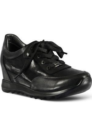 Marjin Dolgu Topuk Spor Ayakkabı Siyah