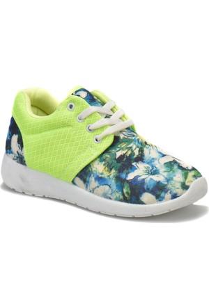 Torex Star Neon Yeşil Kadın Sneaker Ayakkabı