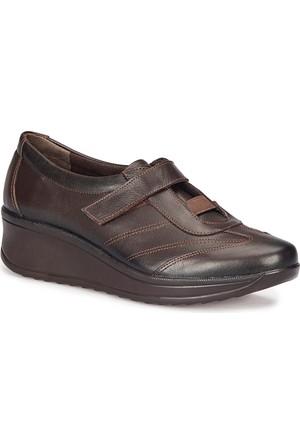 Polaris 5 Nokta 72.110098.Z Kahverengi Kadın Deri Ayakkabı