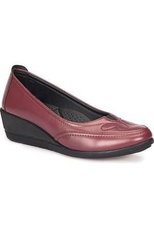 Polaris 72.158045.Z Bordo Kadın Anne Ayakkabısı