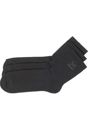 Kinetix Leroy Siyah Erkek Kısa Soket Çorap