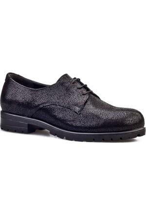 Cabani Bağcıklı Simli Günlük Kadın Ayakkabı Siyah