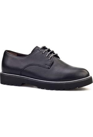 Cabani Bağcıklı Günlük Kadın Ayakkabı Siyah