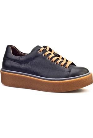 Cabani Bağcıklı Sneaker Günlük Kadın Ayakkabı Siyah