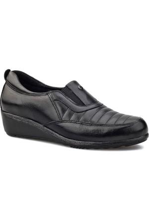 Cabani Dolgu Topuklu Günlük Kadın Ayakkabı Siyah