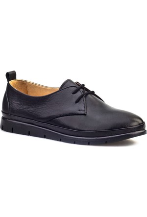 Cabani Confort Taban Bağcıklı Günlük Kadın Ayakkabı Siyah