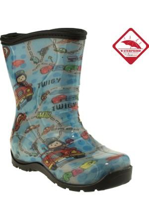 Twigy Erkek Çocuk L0615 Tw Pepee Miflonlu Yağmur Mavi Çizme