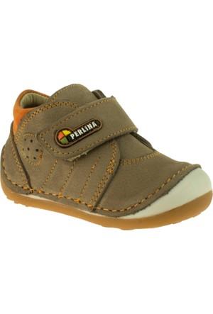 Perlina Erkek Çocuk 508 Papy İlk Adim Kahverengi Ayakkabı
