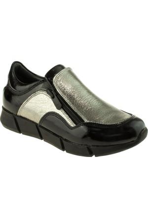 Perlina Erkek Çocuk 951 Fermuarli Trend Siyah Ayakkabı