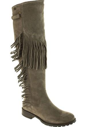 Venus Kadın 1704107 Püsküllü Fermuarli Vizon Çizme