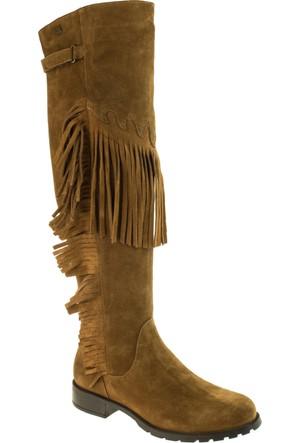 Venus Kadın 1704107 Püsküllü Fermuarli Taba Çizme