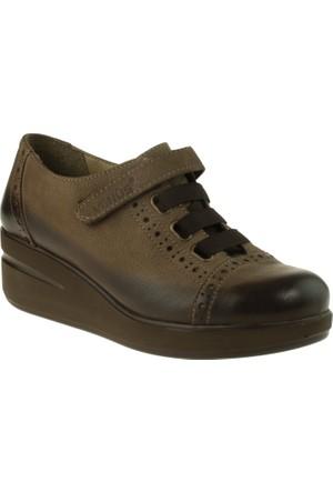 Venus Kadın 3034 Tek Cırt Comfort Vizon Ayakkabı