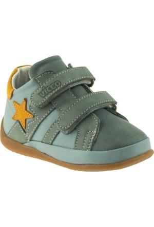 Vicco 918.V.027 İlk Adım Deri Ayakkabı Mavi Çocuk Ayakkabı