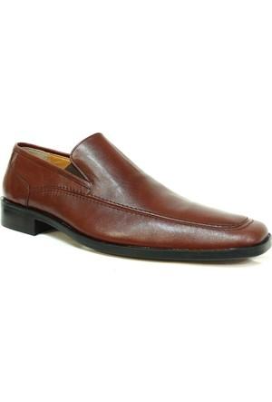 Punto Meico Kahverengi %100 Deri Klasik Abiye Erkek Ayakkabı