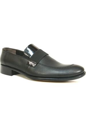 Punto 600203 Siyah Bağcıksız Erkek Ayakkabı