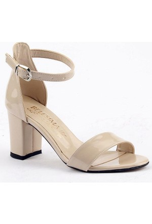 Belesima 7 Cm Topuklu Sandalet Bayan Rugan Ayakkabı