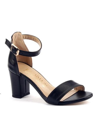 Belesima 7 Cm Topuklu Sandalet Bayan Cilt Ayakkabı