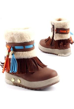 Twingo 9090 İçi Termal Kürklü Işıklı Kız Çocuk Bot Ayakkabı