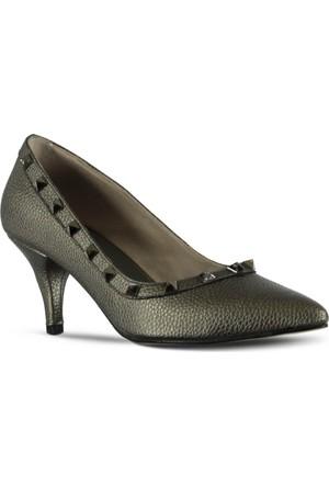 Marjin Anil Topuklu Ayakkabı Platin