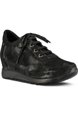 Marjin Unuto Dolgu Topuk Ayakkabı Yeşil Kamuflaj