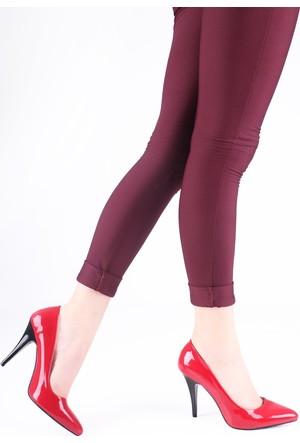 Peri Kızı Kırmızı Rugan Stiletto