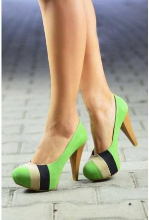 Peri Kızı Dory Topuklu Yeşil