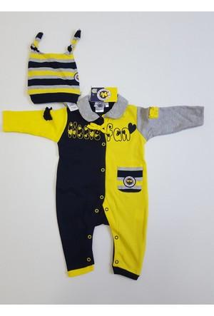 Wenice Fenerbahçe Bebe Kız Tulum Bere Takımı