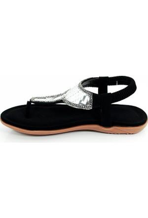 Guja Kadın Aynalı Terlik Sandalet-Siyah-17y406-1-02